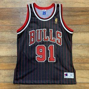 Dennis Rodman Chicago Bulls NBA Champion Jersey 44